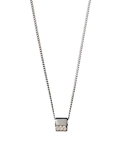 Pilgrim Ariana Crystal Pendant Necklace-SILVER-One Size