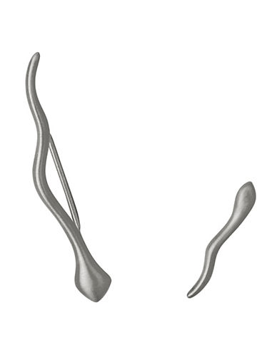Pilgrim Snake Crawling Earrings-SILVER-One Size