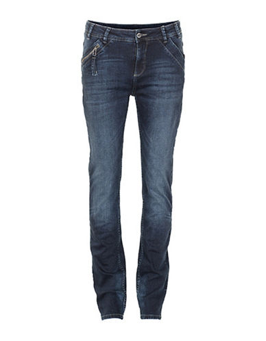 Denim Hunter Cape High Custom Jeans-WASH-32