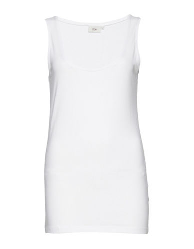 Ichi Jena Sleeveless Tee-WHITE-Small