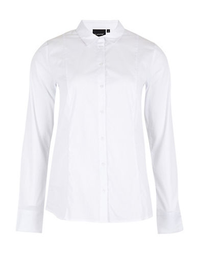 B. Young Honor Collared Shirt-WHITE-42