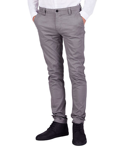 Minimum Slim Fit Chinos-SILVER GREY-36
