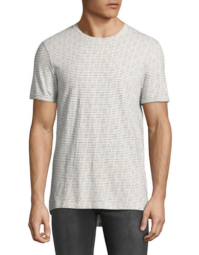 Minimum Oxley Dot-Stitch Tee-WHITE-Medium