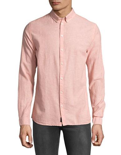 Minimum Linen-Cotton Gallahan 0414 Shirt-PINK-Small