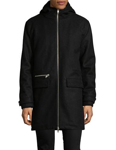 Minimum Hooded Wool-Blend Jacket-BLACK-Medium