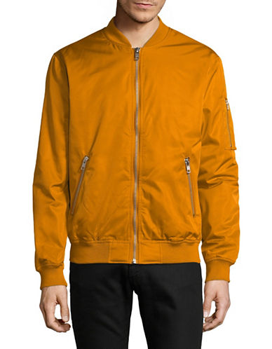 Minimum Bomber Zip Jacket-BROWN-Medium