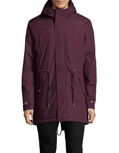 Minimum Wexford Hooded Jacket-RED-Medium 89313849_RED_Medium