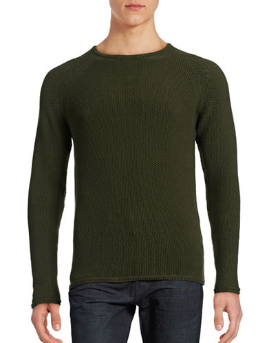 Rvlt Seed-Stitch Sweater-ARMY-Medium