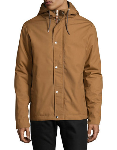 Rvlt Hooded Long Sleeve Parka-BROWN-Large