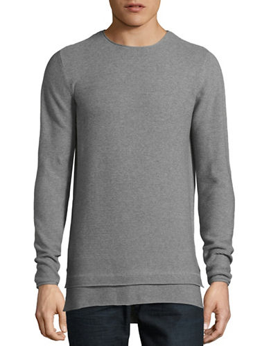 Rvlt Double Layer Crew Neck Sweater-GREY-Small 88682701_GREY_Small