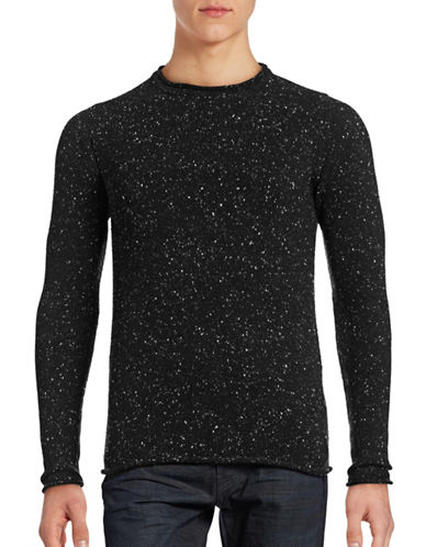 Rvlt Speckled Knit Pullover-BLACK-Small 88727661_BLACK_Small