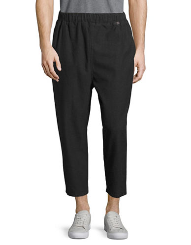 Rvlt Loose Fit Cotton Pants-BLACK-Medium