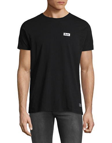 Rvlt Graphic Back Logo T-Shirt-BLACK-Small