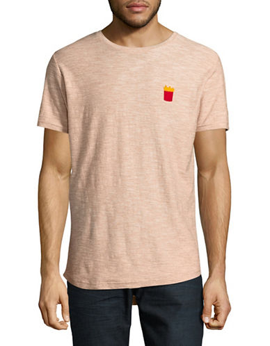Rvlt 3D Print Structured Tee-ORANGE-Small