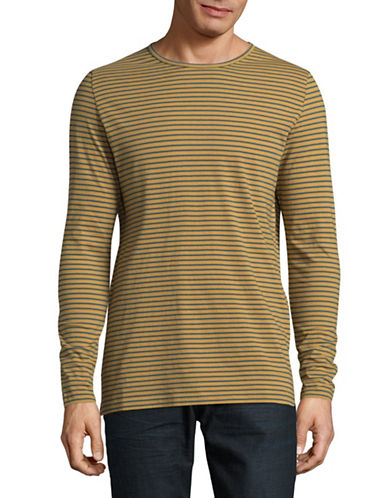 Rvlt Long Sleeve Striped Shirt-GREY-Medium
