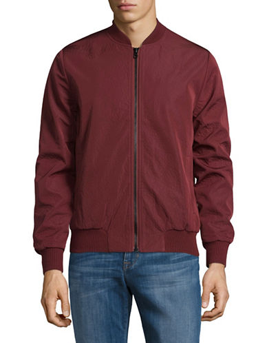 Rvlt Zip Bomber Jacket-RED-Large
