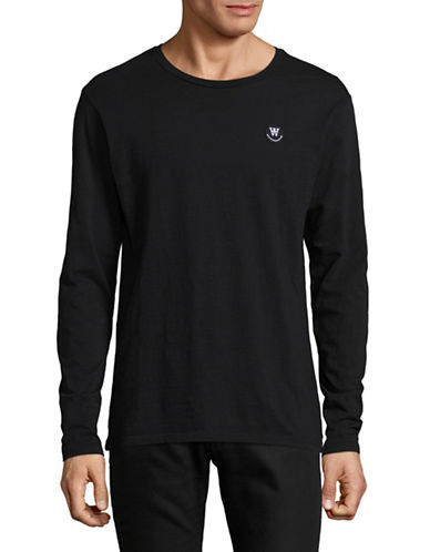 Wood Wood Long-Sleeve T-Shirt-BLACK-Small 89306619_BLACK_Small