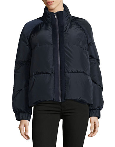 Ganni Zip Down-Filled Short Puffer Jacket-BLUE-40
