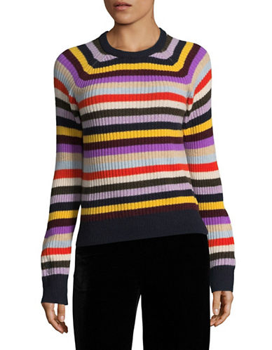Ganni Multi Stripe Sweater-MULTI-X-Small