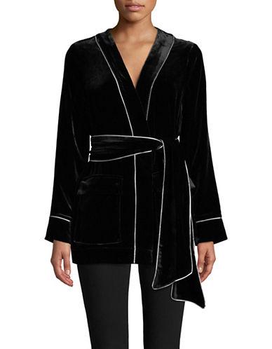 Ganni Rodier Velvet Jacket-BLACK-42