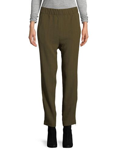 Ganni Clark Pinstripe Pants-GREEN-40