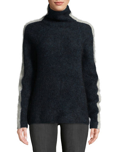 Ganni Evangelista Wool-Blend Sweater-NAVY-X-Large