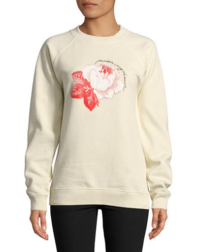 Ganni Lott Isoli Cotton Sweatshirt-WHITE-Large
