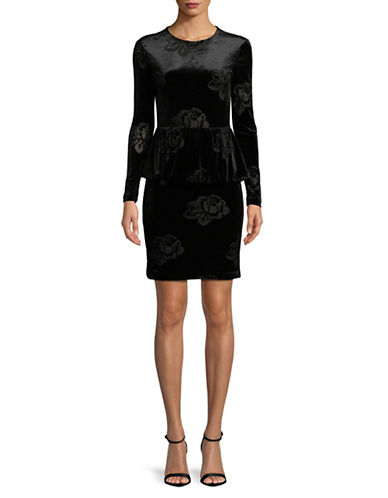 Ganni Bloomsbury Velvet Dress-BLACK-38