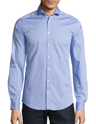 Tiger Of Sweden Slim Fit Stretch Sport Shirt-LIGHT BLUE-EU 43/US 17