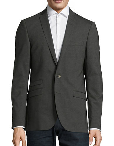 Tiger Of Sweden Nedvin Wool-Blend Sports Jacket-GREY-EU 50/US 40