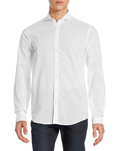 Tiger Of Sweden Slim-Fit Cotton-Linen Sport Shirt-WHITE-EU 42/US 16.5