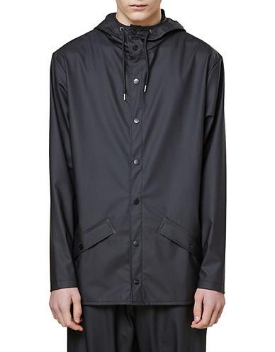 Rains Short Rain Jacket-BLACK-X-Small/Small 90083334_BLACK_X-Small/Small