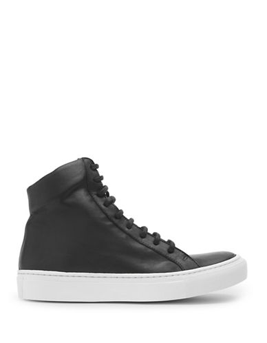 The Last Conspiracy Momo Leather High Top Sneakers-BLACK-EUR 36/US 6