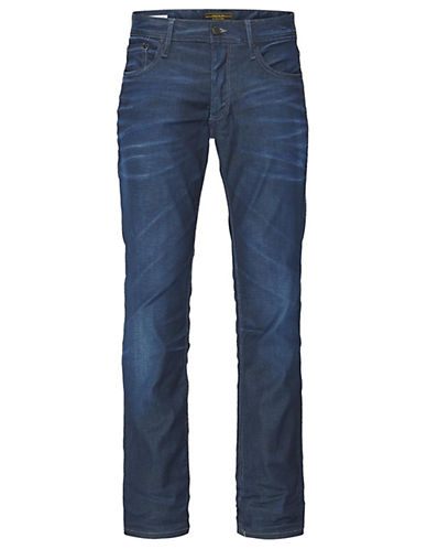 Jack & Jones Slim Fit Jeans-MEDIUM BLUE-34X32
