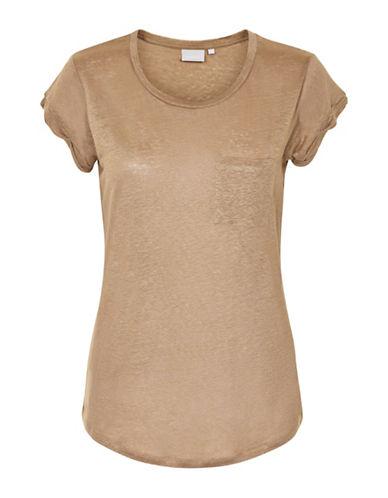 Inwear Vuzima Linen Pocket Tee-CREAM-Small