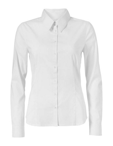 Inwear Verla Poplin Button Shirt-WHITE-36