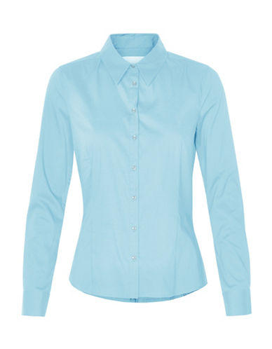 Inwear Verla Poplin Button Shirt-BLUE-40