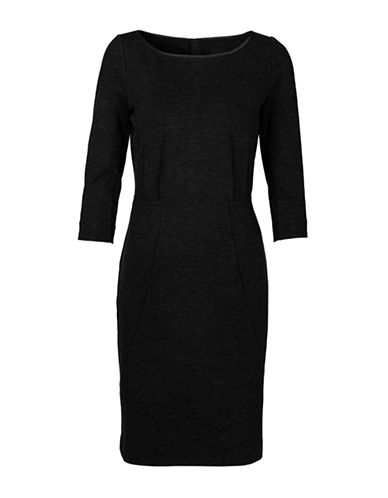 Inwear Panelled Sheath Dress-BLACK-38