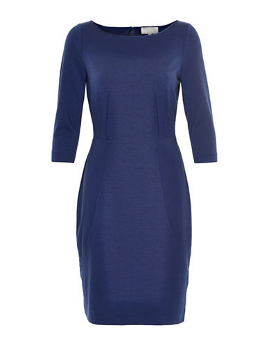 Inwear Panelled Sheath Dress-BLUE-42