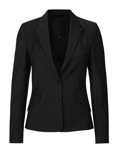 Inwear Billaa Two-Button Wool-Blend Blazer-BLACK-36
