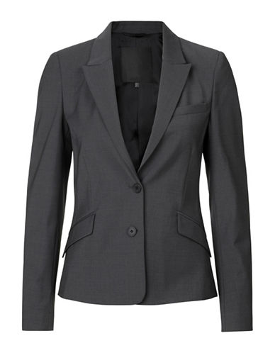 Inwear Billaa Two-Button Wool-Blend Blazer-GREY-44