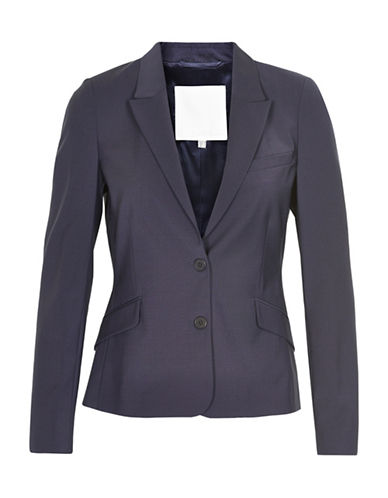 Inwear Billaa Two-Button Wool-Blend Blazer-NAVY-40