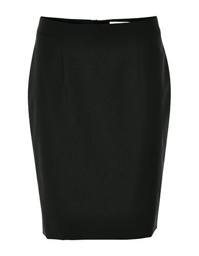 Inwear Ninsa Wool-Blend Pencil Skirt-BLACK-38