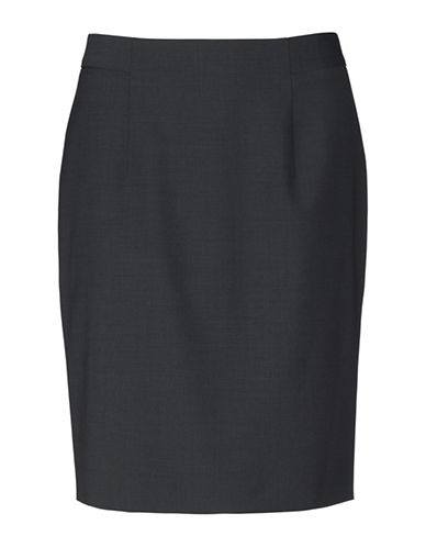 Inwear Ninsa Wool-Blend Pencil Skirt-GREY-32