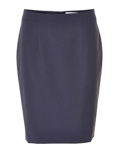 Inwear Ninsa Wool-Blend Pencil Skirt-NAVY-32
