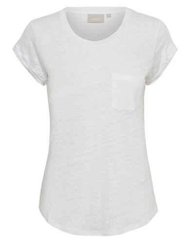 Inwear Vuzima Linen Pocket Tee-BEIGE-Small