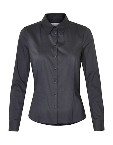Inwear Verla Poplin Button Shirt-BLACK-40