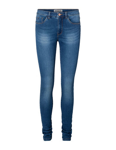 Noisy May Lucy Extreme Soft Skinny Jeans-BLUE-Small