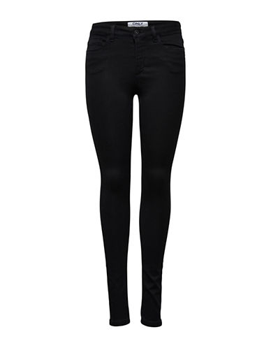 Only onlROYAL High Skinny Jeans-BLACK-Small
