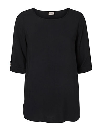 Vero Moda Boca Round Neck T-Shirt-BLACK-Medium